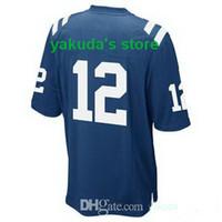 Wholesale #12 Andrew Luck Royal Blue 2014 New Elite Football...