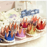 Barrettes other Floral New Style Baby Hair Clips Shining Crown Hair Clip Fashion Girls Hair Accessories For Kids Wholesale HA40827-55