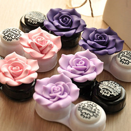 Wholesale Everyone loves cute super beautiful large flowers Korea contact lens case Anna candy colored glasses companion box