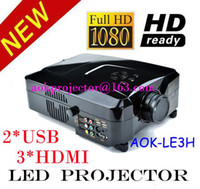 1080i home projector - Multimedia projector p i p Full HD Home Theatre LED Projector Lamp Life support hard disk