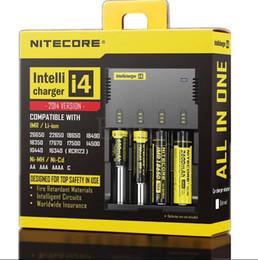 Wholesale Original Nitecore Battery Charger Nitecore I4 Charger for CR123 Universal battery Charger DHL