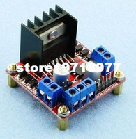 Cheap Free shipping Red plate original chip L298N motor driver board stepper motor