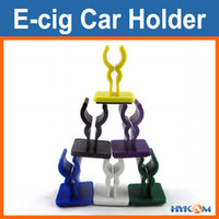 E-cig Car Holder / E-cig Car Bracket POM 12-16mm diameter E Cigs 9 Colors E Cigs Car Holder E Cigarette Car Holder 3M Sticky Bottom Stick On Car Hold EGO EVOD E-Smart Vision Spinner etc