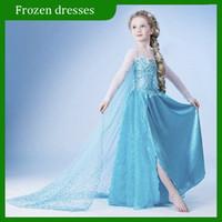 Cheap Girl Frozen dress Best Cartoon Star Cotton Blends Frozen