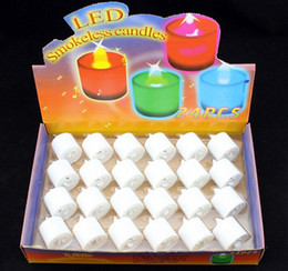 Led Candle LED Smokeless flameless Battery Amber Tea Light Wedding Birthday Party Romantic Valentine's Day Christmas Decoration Candles