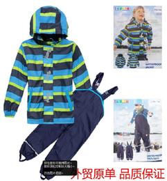 Wholesale Lupilu for m PU leather fabric fleece child raincoat rain pants bib pants cm cm kid rain jacket water proof bib pants