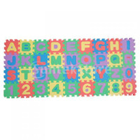 foam puzzle - Educational Colorful Foam Alphabet and Number Mini Interlocking Puzzle Mat