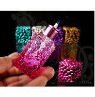 Glass alcohol lamp - Smoking shipping sealed Colorful fashion mini portable personality alcohol lamp hookah accessories