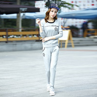 Running Men Full Spring and Autumn new listing Ms. Sweat suits Korean fashion women's casual sportswear sportswear