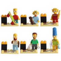 cartoon Simpsons 6pcs lot Building Blocks Sets Model Minifig...