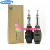Single Black Innokin Original Innokin Cool Fire 2 E Cigarette kit with iClear 30S Dual Coil Atomizer mechanical mod for 18350 battery COOL FIRE II kits 002458
