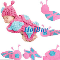 Unisex Winter Crochet Hats Baby Butterfly Knit Crochet Beanie Costume Photography Prop Cloth #3362