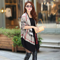 Wholesale New Autumn Cardigan Plus Size Women Knitted Plaids Shart Long Sleeve Fashion Casual Cardigan Sweater S0478