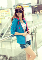 Wholesale 2014 spring and autumn new women students hooded jacket cultivating wild casual cardigan jacket tide