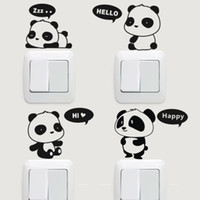 Wholesale Super cute Korean Korean switch stickers graffiti wall stickers glass film Stickers Red Panda optional