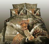 Cheap 3D oil painting bedclothes,cotton printed 4pcs bedding set,Twin queen bed linens sheet set,Duvet quilt cover sets Animal