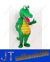 Unisex alligator costume - Crocodile Alligator Mascot Costume Fancy Dress Adult Size HSA0697