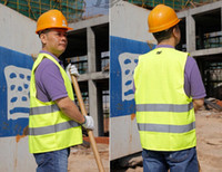 Wholesale Reflective safety vest coat Sanitation vest Traffic safety warning clothing vest Green Light Thin Breathable Safety warning clothing