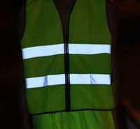 Wholesale High Visibility Reflective safety clothing vest waistcoat to keep safe for workers at night work mens safety clothing reflecting Hot Sale