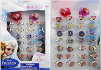 Wholesale Hot sale Fashion Finger Ring Children s Cartoon Frozen Ring Mix Order box
