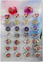 Wholesale Hot Sell Frozen Girls Frozen ring Frozen Girl Elsa Anna cartoon ring Frozen Mix Order box