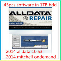 Wholesale 45 software in TB HDD Alldata Mitchell ECM2001 ECUsafe Winols With fast shipping