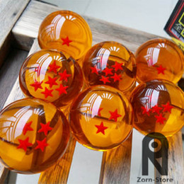 Zorn Store-Wholesale -Brand New animation dragonBall 7 stars Crystal Glass Ball set of 7pcs with Gift Box dragon ball Z Son Goku 42MM