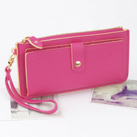 Wholesale 2014 Wallet Hand Bag ID Card Holders Purse Clutch HOT Fashion WOMEN PU Leather Handbags Totes Agood Colors