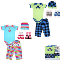 Wholesale baby clothing sets Infant clothes kid apparel style for choice gift for new born babies months