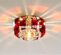 Wholesale 3W W led ceiling lights for living room bedroom lampshade balcony lights AC85 V modern crystal lamp CM