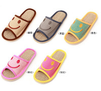 Wholesale Korean Women and Man Home Shoes Fashion Flax Slippers Sweetheart Home Shoes Non slip shoes Pair K143DE