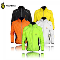 Wholesale 2014 WOLFBIKE Breathable Men Long Sleeve Cycling Jersey Winter Jacket Wind Coat Outdoor Sports Bicycle Bike Clothing Wear M XL