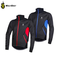 Wholesale WOLFBIKE Windproof Men Fleece Winter Cycling Jersey Thermal Bike Bicycle Jacket Clothing Casual Long Sleeve Wind Coat M XL