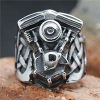 Band Rings band engine - Newest Real Big Motorcycles Engine Biker Ring L Stainless Steel Ring Biker Jewelry HD1006