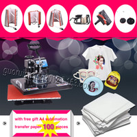 Wholesale with free gift pieces of A4 sublimation transfer paper IN heat transfer press sublimation machine plate mug cap T shirt
