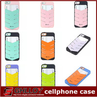 For Apple iPhone Plastic  Alcoco Wallet Credit Card Slot Holder Case Kickstand Cover for Apple Iphone 5 5S Hard Plastic Shell Fashion Arrow Design Dual Color Skin 50P