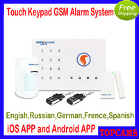 Wholesale iOS Android App Wireless Burglar GSM SMS Home Security Alarm systems G2 with russian languange better than chuango G5