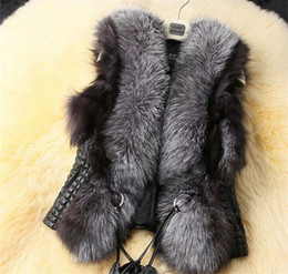 Wholesale Retail Euramerican style fashion women clothing European autumn short Fur coat PU split joint big size women coat MA591