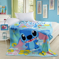 Wholesale Home Textile Children cartoon Coral fleece blankets on the bed bedclothes cover throw CM