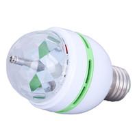 Wholesale Promotion Magic Ball RGB Full Color W E27 LED Bulb Crystal Auto Rotating Stage Effect DJ Light Bulb Mini laser Stage Light