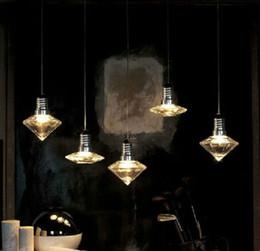 Wholesale Glass pendant lights creative design diamond vase UFO shape lights crystal pendant lights hanging lamp home decoration price pc