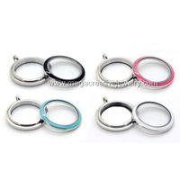 Lockets living lockets - twist large floating living locket mm newest L stainless steel colored screw top enamel