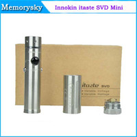 Wholesale 100 Original Innokin iTaste SVD Kit Stainless Steel Variable Voltage Wattage Telescopic Tube Mechanical Mod With LED Screen