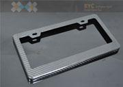 Wholesale Carbon Fiber Adjustable License Frame Black License plate frame car styling High Quality