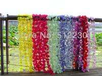 Wholesale artificial silk flower garland silk rose peony azaleas each small flowers wedding home party decorations