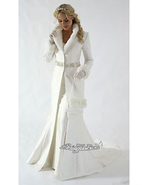 Wholesale 2014 Exquisite Winter Bridal Cape Fur Wedding Cloaks Classic White Crystal Beaded Perfect High Quality Bridal Abaya For Winter Wedding