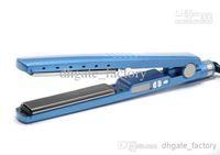 Wholesale Hair Straightening Titanium Ceramic EC PRO inch Straightener Flat Iron With LED Electronic Temperature Control In Stock