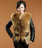 Wholesale 2014 Winter New Products Female Fur Coat Slim Full Sleeve faux Leather Jackets Blazer Women faux fox fur Outerwear faux fur jacket