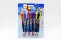 Wholesale Hot sale new Frozen Princess Anna Multi Color Ballpoint Pens Frozen Elsa Stationery Set Toys