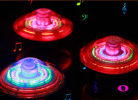 Wholesale spinning top toys musical for fusion flash led electric ufo Various angles